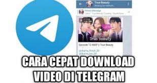 Cara Mempercepat Download Video di Telegram