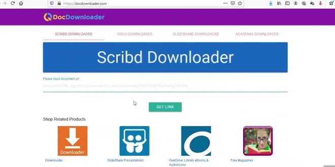 Cara Download File Scribd Tanpa Login